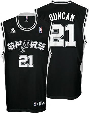 aafddfc0ef0 adidas Tim Duncan  21 San Antonio Spurs Replica NBA Trikot Schwarz ...
