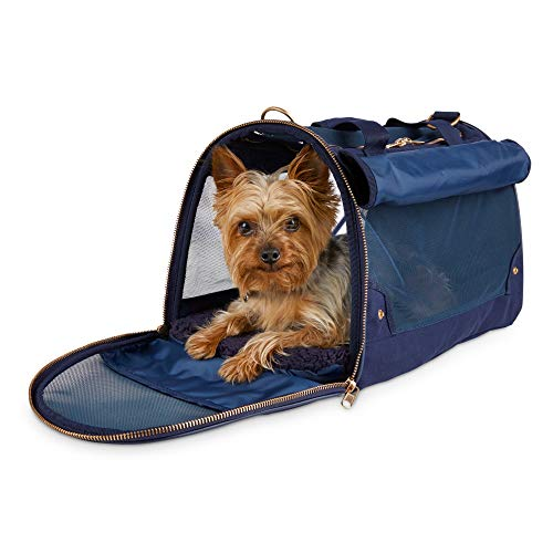 Modern Luxe Collection Slate Blue Pet Carrier, 18″ L X 11″ W X 10.5″ H, 18 in