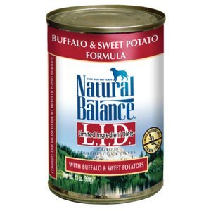 Natural Balance Limited Ingredient Diets Buffalo and Sweet Potato Formula Canned Dog Food 1213oz by Natural Balance by Natural Balance