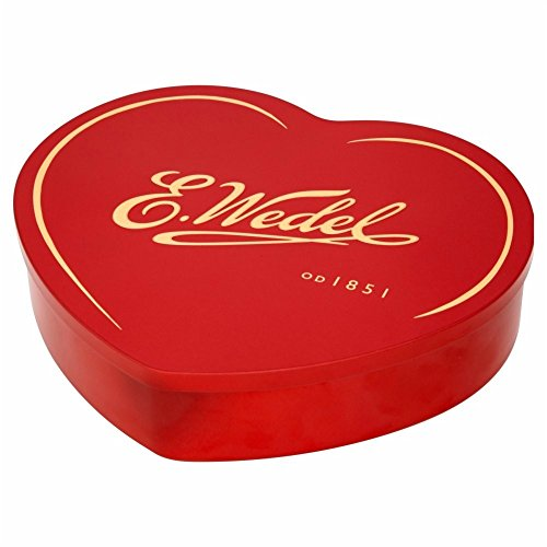 - E Wedel Assorted Pralines Heart Tin Gift Box, 263g/9.28oz