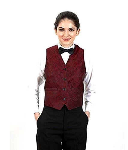 (SixStarUniforms Women's Burgundy Symphony Jacquard Vest Small)