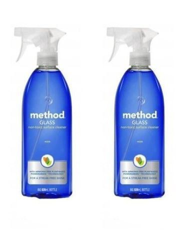 (2 PACK) - Method Glass Cleaning Spray - Blue   828ml   2 PACK - SUPER SAVER - SAVE MONEY