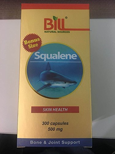 Bill Natural Sources Squalene Skin Health 500mg, 300 capsules - Shark Squalene Liver Oil