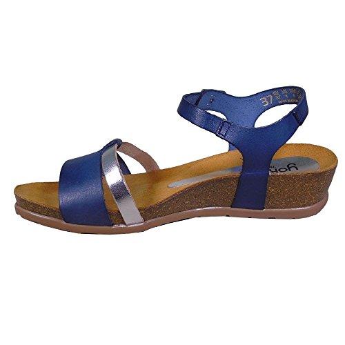 Yokono Sandalias, YOKONO CAPRI 040 Azul marino de Mujer Azul