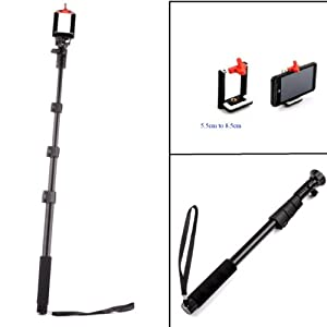 brand yunteng 4 section retractable handheld monopod selfie stick for gopro hero. Black Bedroom Furniture Sets. Home Design Ideas