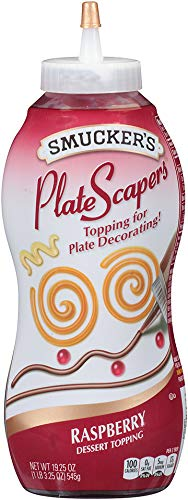 (Smucker's 12 Pack Plate Scapers Dessert Topping, Raspberry, 19.5 Ounce (Pack of 12))