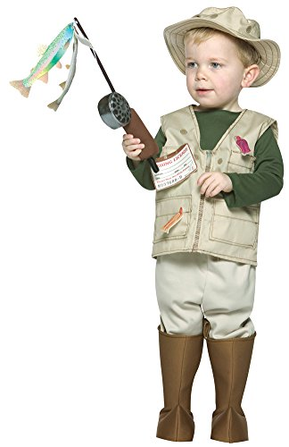 Future Fisherman Child Costume (Toddler Halloween Costume- Future Fisherman Toddler Costume 3T-4T)