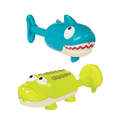 B toys by Battat – Splishin' Splash Animal Water Squirts Duo Pack – Summer and Water Toys for Kids 18 m+ (2-Pcs)