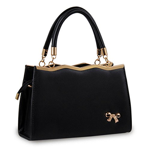 Señoras bolso bolso de moda paquete de diagonal, púrpura Negro