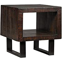 Signature Design by Ashley T881-3 Parlone Rectangular End Table, Brown