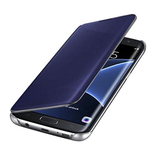Hovisi Luxurious Shiny Flip Case Cover Samsung Galaxy S6 Edge Plus (Darkblue)