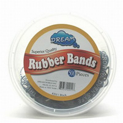 Dream Rubber Bands Black 500-Count Tub (Pack of 2)