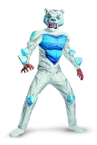 Disguise Monsuno Lock Monster Deluxe Costume, White/Blue,