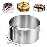 Utooo Stainless Steel Adjustable Round Cake Ring