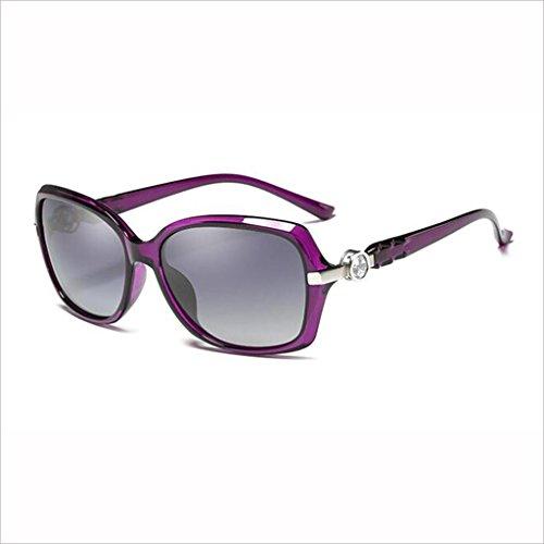 Gafas Color Street Rhinestone Cara 5 Sol polarizadas QZ Caja Moda Pequeña Light Pequeña HOME Beat UV Elegante Drive 5 Anti de wgxU0txq7