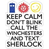 SUPERWHOLOCK SUPERNATURAL DOCTOR WHO SHERLOCK - Sticker Graphic Bumper Window Sicker Decal - Doctor Who Dr Who Sticker