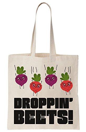 Droppin' Pun Design Tote Beets Canvas Bag E5qvwErz