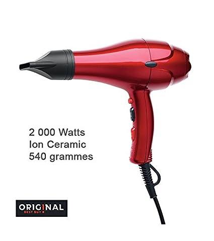 Sinelco Francia Original dreox secador de AC rojo Metallique 2000 W