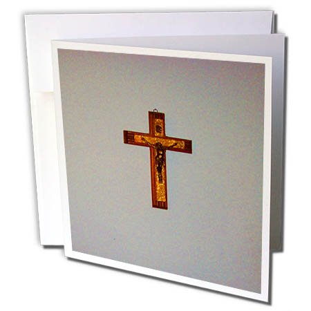3dRose TDSwhite – Miscellaneous Photography - Christian Prayer Bible Study Crucifix Cross - 1 Greeting Card with Envelope (gc_285325_5)