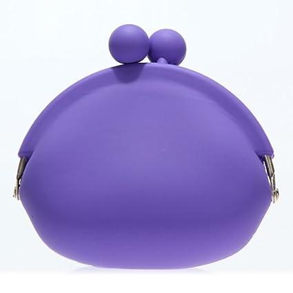 Púrpura Señora linda chica silicona Ronda de Monederos ...