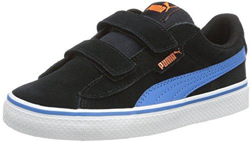 Puma Unisex-Kinder 1948 Vulc V PS Low-Top Schwarz (puma black-french blue 09)