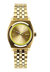 Nixon A399-1618 Ladies The Small Time Teller Gold Neon Yellow Watch