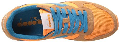 Diadora Mens Camaro Scarpa Da Corsa Arancio Fluorescente / Azzurro Ciano Fluorescente