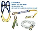 Werner K111201 Roofing Kit, 50-Foot Basic, Pass-Thru Buckle Harness, 1per Pack