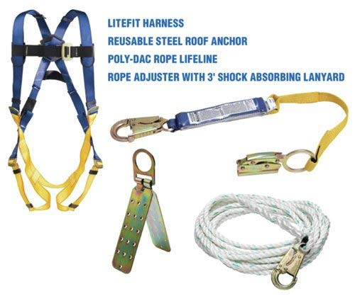 Werner K111201 Roofing Kit, 50-Foot Basic, Pass-Thru Buckle Harness, 1per Pack by Werner (Image #2)
