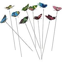 10 Pack Colourful Garden Butterflies On Sticks Miniature Fairy Garden Decoration