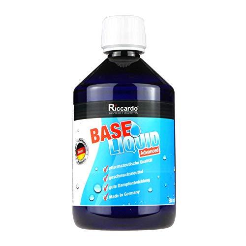 Riccardo Basisliquid Advanced, 55% PG/35% VG/10% H2O, Base Liquid 0,0 mg Nikotin, 500 ml