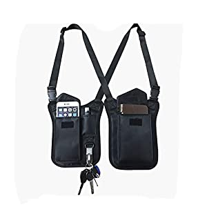 Anti-Thief Hidden Underarm Shoulder Bag, Concealed Pack Pocket, Multi-Purpose Men/Women Safety DoubleStorage Shoulder Armpit Bag Holster Tactical Bag for Travel Outdoors