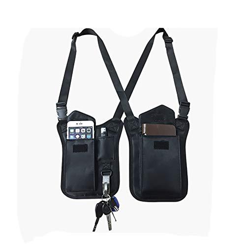 - Anti-Thief Hidden Underarm Shoulder Bag, Concealed Pack Pocket, Multi-Purpose Men/Women Safety DoubleStorage Shoulder Armpit Bag Holster Tactical Bag for Travel Outdoors