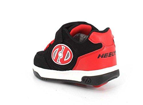 Heelys X2 Plus Lighted Black/Red Black/Red