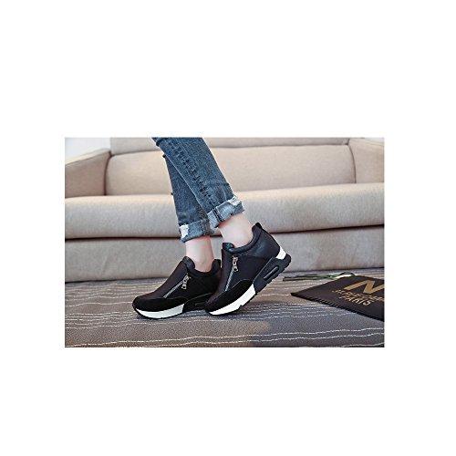 OCHENTA Damen Sneakers Freizeit Sportschuhe Jogging Wanderschuhe Schick Modern Fashion Schwarz