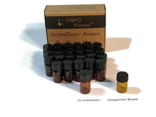 UltraDark 2ml Amber Glass Vial for Essential Oil (24)
