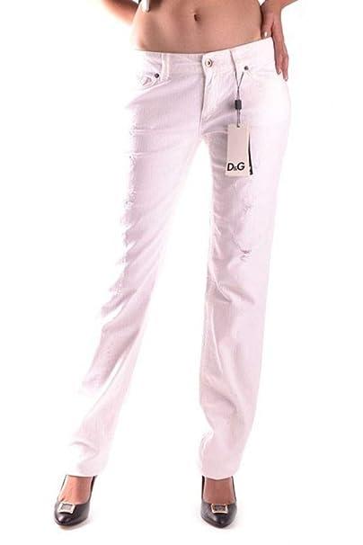 11e1640d3f Dolce E Gabbana Jeans Donna MCBI9983 Cotone Bianco: Amazon.it ...