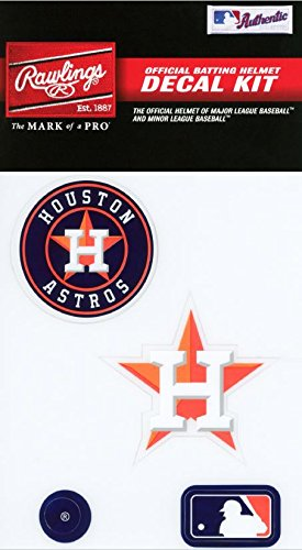 Rawlings Sporting Goods MLBDC Decal Kit, Houston Astros (Mlb Houston Astros Decal)