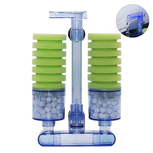 Aquarium Air Pump Sponge Bio Filter,Upettools Silent Mechanical And Biological High Density Foam Purifier Filtration Fish Tank Water Fall Air Pump.