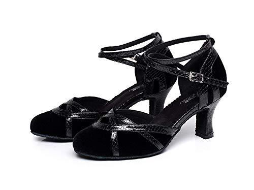 chaussures Talons Jazz 5 Chaussures fr6 Femmes Yingsssq Latin Eu40 Danse De Pour chacha Noirs7cm Our41 samba moderne Ppxwvzx
