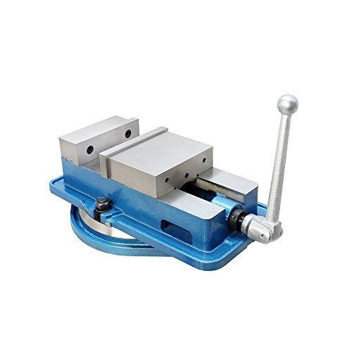 - 6'' Accu Lock Precision Vise w/ Swivel Base Milling Drilling Machine Bench Clamp