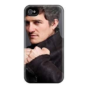 For Iphone 4/4s Premium Tpu Case Cover Celebrities Orlando Bloom Protective Case