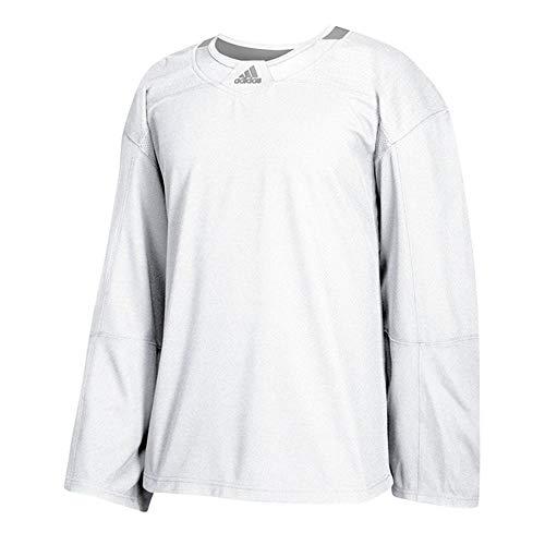 adidas 3Stripe Practice Jersey Men's Hockey 52 White-Mystic Grey