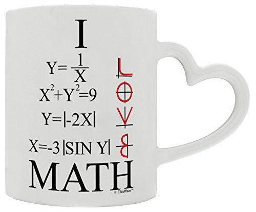 Mathlete I Love Math Graphs Functions Trigonometry Heart Handle Gift Coffee Mug Tea Cup Heart Handle