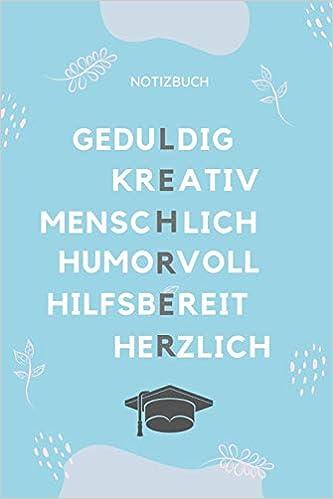 Lehrer Notizbuch A5 Tagebuch Mit Sprüchen Als Danke