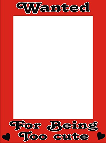 Funcart Wanted for being too cute Photo booth frame: Amazon.in: Toys ...