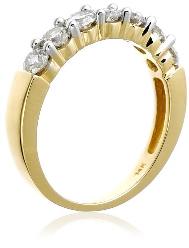 14k Gold Seven Stone Diamond Ring (1 cttw, H I Color, I1 I2 Clarity)