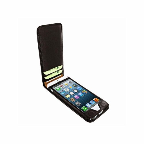 Piel Frama U637LAM Classic Eidechsen Optik Magnetic Ledertasche für Apple iPhone 5C braun