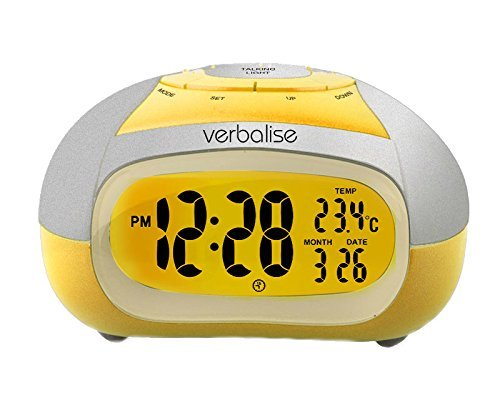 Verbalise Talking Alarm Clock With Temperature, Female Voice