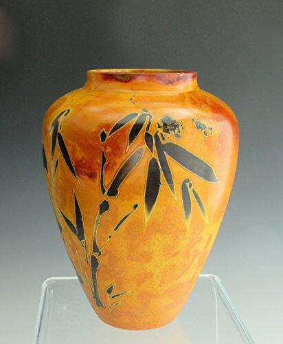 Fine Art Ceramics, Foil Saggar Raku Vase, Ferric Chloride Alternative Firing, Decorative Porcelain Vase by Susan Fontaine Pottery
